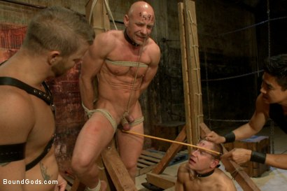 Photo number 6 from The Veteran & The Newcomer - Live Shoot shot for Bound Gods on Kink.com. Featuring Van Darkholme, Jeremy Stevens, Alex Adams and Chad Rock in hardcore BDSM & Fetish porn.