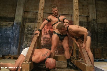 Photo number 1 from The Veteran & The Newcomer - Live Shoot shot for Bound Gods on Kink.com. Featuring Van Darkholme, Jeremy Stevens, Alex Adams and Chad Rock in hardcore BDSM & Fetish porn.