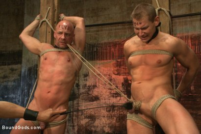Photo number 4 from The Veteran & The Newcomer - Live Shoot shot for Bound Gods on Kink.com. Featuring Van Darkholme, Jeremy Stevens, Alex Adams and Chad Rock in hardcore BDSM & Fetish porn.