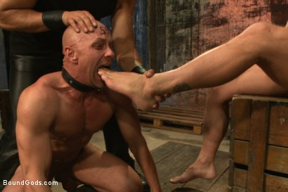 Photo number 7 from The Veteran & The Newcomer - Live Shoot shot for Bound Gods on Kink.com. Featuring Van Darkholme, Jeremy Stevens, Alex Adams and Chad Rock in hardcore BDSM & Fetish porn.
