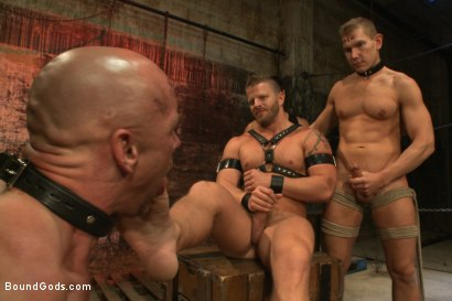 Photo number 8 from The Veteran & The Newcomer - Live Shoot shot for Bound Gods on Kink.com. Featuring Van Darkholme, Jeremy Stevens, Alex Adams and Chad Rock in hardcore BDSM & Fetish porn.