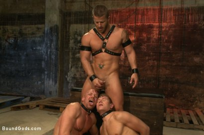 Photo number 14 from The Veteran & The Newcomer - Live Shoot shot for Bound Gods on Kink.com. Featuring Van Darkholme, Jeremy Stevens, Alex Adams and Chad Rock in hardcore BDSM & Fetish porn.
