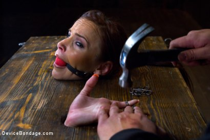 Photo number 6 from Big Natural Tits get Brutalized  shot for Device Bondage on Kink.com. Featuring Bella Rossi in hardcore BDSM & Fetish porn.