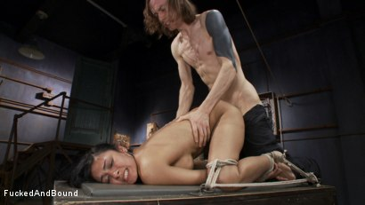 Photo number 12 from Fucking All of Her Holes shot for Fucked and Bound on Kink.com. Featuring Beretta James and Owen Gray in hardcore BDSM & Fetish porn.