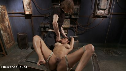 Photo number 4 from Fucking All of Her Holes shot for Fucked and Bound on Kink.com. Featuring Beretta James and Owen Gray in hardcore BDSM & Fetish porn.