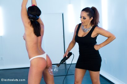 Photo number 2 from New Electroslut Adriana Chechik SQUIRTS from the CATTLE PROD!! LIVE!!! shot for Electro Sluts on Kink.com. Featuring Adriana Chechik and Francesca Le in hardcore BDSM & Fetish porn.