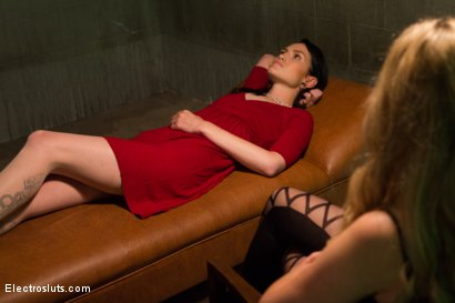 Photo number 1 from Electrocock Therapy shot for Electro Sluts on Kink.com. Featuring Mizz Amanda Marie and Aiden Starr in hardcore BDSM & Fetish porn.