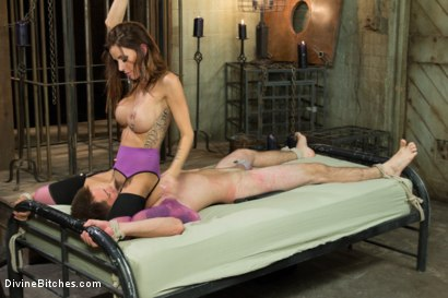 Photo number 6 from New Meat Test Drive shot for Divine Bitches on Kink.com. Featuring James Riker and Gia DiMarco in hardcore BDSM & Fetish porn.