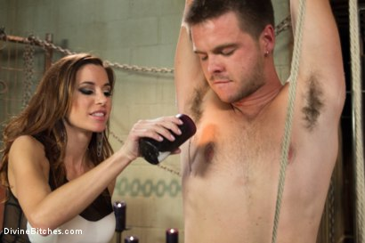 Photo number 5 from New Meat Test Drive shot for Divine Bitches on Kink.com. Featuring James Riker and Gia DiMarco in hardcore BDSM & Fetish porn.