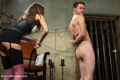 Photo number 14 from New Meat Test Drive shot for Divine Bitches on Kink.com. Featuring James Riker and Gia DiMarco in hardcore BDSM & Fetish porn.