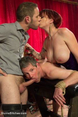 Photo number 3 from All Night Cuckolding Fuck Fest shot for Divine Bitches on Kink.com. Featuring Mz Berlin, Wolf Hudson and Jimmy Broadway in hardcore BDSM & Fetish porn.