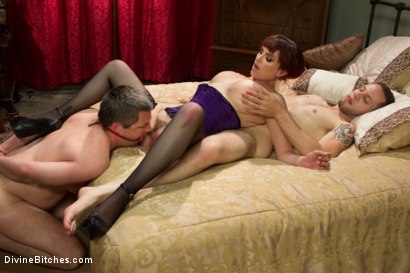 Photo number 13 from All Night Cuckolding Fuck Fest shot for Divine Bitches on Kink.com. Featuring Mz Berlin, Wolf Hudson and Jimmy Broadway in hardcore BDSM & Fetish porn.