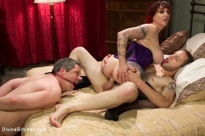 Photo number 7 from All Night Cuckolding Fuck Fest shot for Divine Bitches on Kink.com. Featuring Mz Berlin, Wolf Hudson and Jimmy Broadway in hardcore BDSM & Fetish porn.