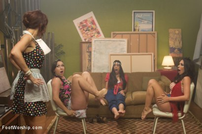 Photo number 2 from Step Mom Foot Fuck shot for Foot Worship on Kink.com. Featuring Kirsten Price, Syren de Mer, Sinn Sage and Lyla Storm in hardcore BDSM & Fetish porn.