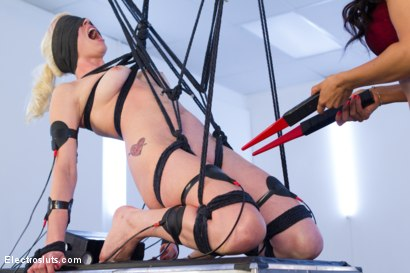 Photo number 13 from Isis Love Dommes Lorelei Lee Part 2! shot for Electro Sluts on Kink.com. Featuring Isis Love and Lorelei Lee in hardcore BDSM & Fetish porn.