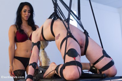 Photo number 4 from Isis Love Dommes Lorelei Lee Part 2! shot for Electro Sluts on Kink.com. Featuring Isis Love and Lorelei Lee in hardcore BDSM & Fetish porn.