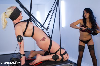 Photo number 1 from Isis Love Dommes Lorelei Lee Part 2! shot for Electro Sluts on Kink.com. Featuring Isis Love and Lorelei Lee in hardcore BDSM & Fetish porn.