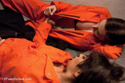 Photo number 3 from Weekend Jail Time in an All Girl Cell and Her Bunk Mate has a Cock shot for TS Pussy Hunters on Kink.com. Featuring Eva Cassini and Nina Lopez in hardcore BDSM & Fetish porn.