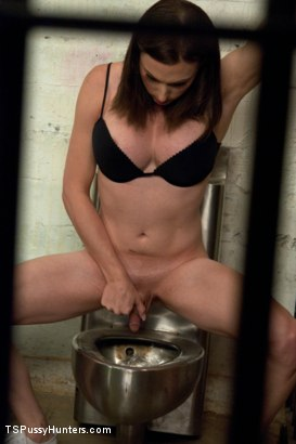 Photo number 2 from Weekend Jail Time in an All Girl Cell and Her Bunk Mate has a Cock shot for TS Pussy Hunters on Kink.com. Featuring Eva Cassini and Nina Lopez in hardcore BDSM & Fetish porn.