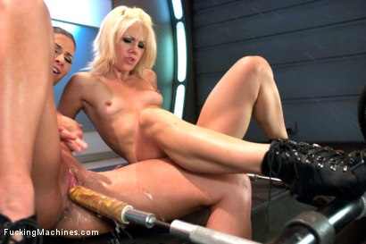 Photo number 2 from Ariel X Fists & Machine Fucks Holly Hanna. Fist train & Squirting O's! shot for Fucking Machines on Kink.com. Featuring Holly Hanna and Ariel X in hardcore BDSM & Fetish porn.