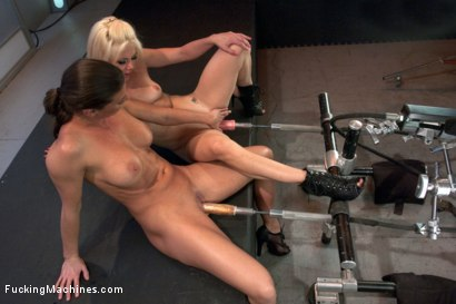 Photo number 6 from Ariel X Fists & Machine Fucks Holly Hanna. Fist train & Squirting O's! shot for Fucking Machines on Kink.com. Featuring Holly Hanna and Ariel X in hardcore BDSM & Fetish porn.