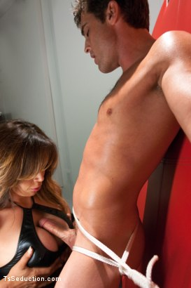 Photo number 1 from Cupid Draws Back Her Panties and Reveals a Thick, Hard Cock shot for TS Seduction on Kink.com. Featuring Sofia Sanders and Lance Hart in hardcore BDSM & Fetish porn.