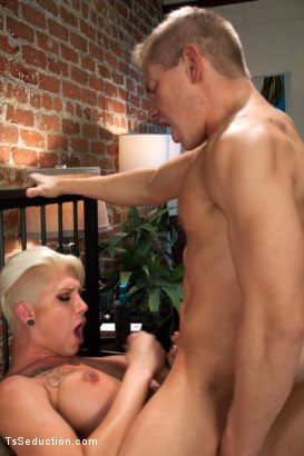 Photo number 8 from Dinner and a Lay: Danni Daniels Cums on Alex Adams shot for TS Seduction on Kink.com. Featuring Danni Daniels and Alex Adams in hardcore BDSM & Fetish porn.