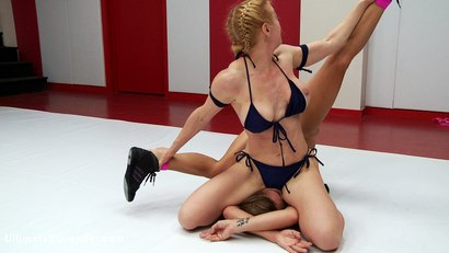 Photo number 8 from S10 Summer Vengeance The Grappler puts the Wolf in Back Breaking holds shot for Ultimate Surrender on Kink.com. Featuring Dee Williams and Bella Wilde in hardcore BDSM & Fetish porn.