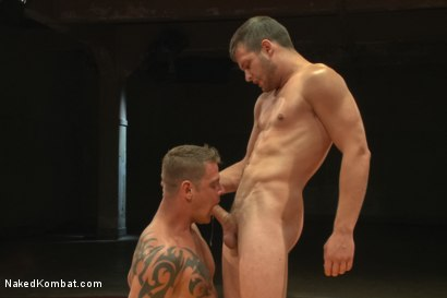 "Photo number 11 from Hayden ""The Swank"" Richards vs Jace ""The Juggernaut"" Chambers shot for Naked Kombat on Kink.com. Featuring Hayden Richards and Jace Chambers in hardcore BDSM & Fetish porn."