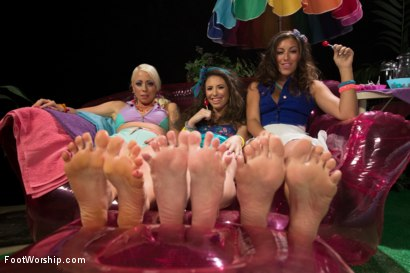 Photo number 1 from Foot Fetish, Lesbian Footing, Jello and Sploshing!!!!! shot for Foot Worship on Kink.com. Featuring Lorelei Lee, Casey Calvert  and Rilynn Rae in hardcore BDSM & Fetish porn.