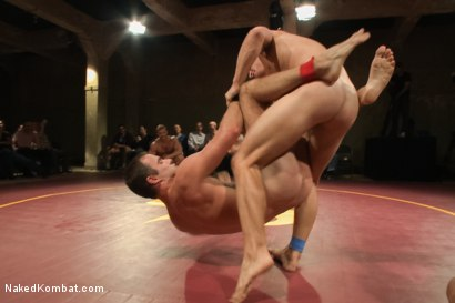 Photo number 6 from Naked Kombat's First Live Audience Tag Team Match of the Season! shot for nakedkombat on Kink.com. Featuring Randall O'Reilly, Cameron Kincade, Marcus Ruhl and Landon Conrad in hardcore BDSM & Fetish porn.