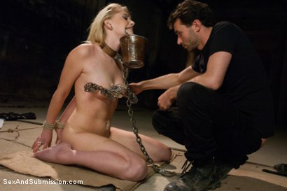 Photo number 2 from Pretty Piece of Fuck Meat!  Introducing Allie James shot for Sex And Submission on Kink.com. Featuring James Deen and Allie James in hardcore BDSM & Fetish porn.