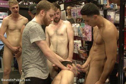 Photo number 14 from Hot ripped stud gets punished and gang fucked by a crowd for stealing shot for Bound in Public on Kink.com. Featuring Silas O'Hara, Andrew Fitch and Jay Cloud in hardcore BDSM & Fetish porn.
