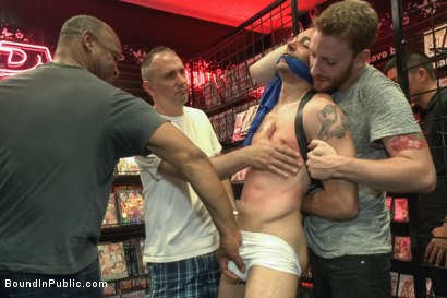 Photo number 4 from Hot ripped stud gets punished and gang fucked by a crowd for stealing shot for Bound in Public on Kink.com. Featuring Silas O'Hara, Andrew Fitch and Jay Cloud in hardcore BDSM & Fetish porn.