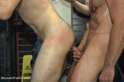 Photo number 12 from Hot ripped stud gets punished and gang fucked by a crowd for stealing shot for Bound in Public on Kink.com. Featuring Silas O'Hara, Andrew Fitch and Jay Cloud in hardcore BDSM & Fetish porn.