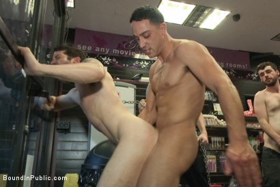 Photo number 13 from Hot ripped stud gets punished and gang fucked by a crowd for stealing shot for Bound in Public on Kink.com. Featuring Silas O'Hara, Andrew Fitch and Jay Cloud in hardcore BDSM & Fetish porn.