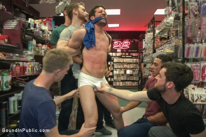 Photo number 3 from Hot ripped stud gets punished and gang fucked by a crowd for stealing shot for Bound in Public on Kink.com. Featuring Silas O'Hara, Andrew Fitch and Jay Cloud in hardcore BDSM & Fetish porn.