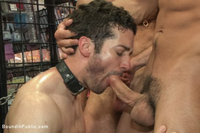 Photo number 9 from Hot ripped stud gets punished and gang fucked by a crowd for stealing shot for Bound in Public on Kink.com. Featuring Silas O'Hara, Andrew Fitch and Jay Cloud in hardcore BDSM & Fetish porn.