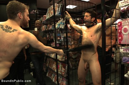 Photo number 2 from Hot sex shop thief fucked in the back arcade shot for Bound in Public on Kink.com. Featuring Silas O'Hara, Andrew Fitch and Jay Cloud in hardcore BDSM & Fetish porn.