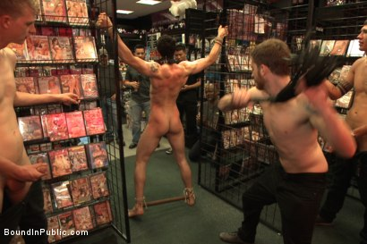 Photo number 3 from Hot sex shop thief fucked in the back arcade shot for Bound in Public on Kink.com. Featuring Silas O'Hara, Andrew Fitch and Jay Cloud in hardcore BDSM & Fetish porn.