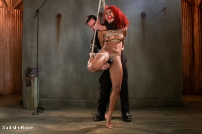 Photo number 2 from Newbie First Time in Brutal Rope Bondage!! shot for Sadistic Rope on Kink.com. Featuring Daisy Ducati in hardcore BDSM & Fetish porn.