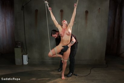 Photo number 3 from Debasing Ariel X shot for Sadistic Rope on Kink.com. Featuring Ariel X in hardcore BDSM & Fetish porn.