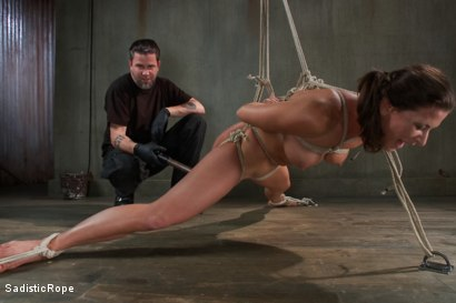 Photo number 4 from Debasing Ariel X shot for Sadistic Rope on Kink.com. Featuring Ariel X in hardcore BDSM & Fetish porn.
