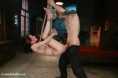 Photo number 9 from Petite Newcomer's First Shoot Ever!!! shot for  on Kink.com. Featuring Cadence Cross and Owen Gray in hardcore BDSM & Fetish porn.