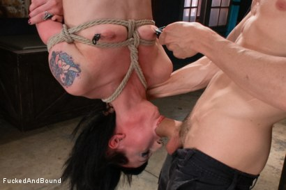 Photo number 6 from Petite Newcomer's First Shoot Ever!!! shot for  on Kink.com. Featuring Cadence Cross and Owen Gray in hardcore BDSM & Fetish porn.