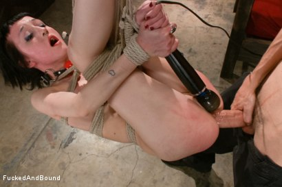 Photo number 8 from Petite Newcomer's First Shoot Ever!!! shot for  on Kink.com. Featuring Cadence Cross and Owen Gray in hardcore BDSM & Fetish porn.