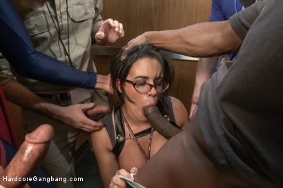 Photo number 3 from Komic Kon Slut Gets Dicked Down in Elevator - Big Tits! Double Vag! shot for Hardcore Gangbang on Kink.com. Featuring Penny Barber, Danny Wylde, Mickey Mod, Tommy Pistol and Prince Yahshua in hardcore BDSM & Fetish porn.