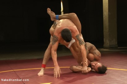 Photo number 3 from First Match of NK's Summer Smackdown 10-Man Kombatant Tournament! shot for Naked Kombat on Kink.com. Featuring Rod Daily and Tyler Alexander in hardcore BDSM & Fetish porn.