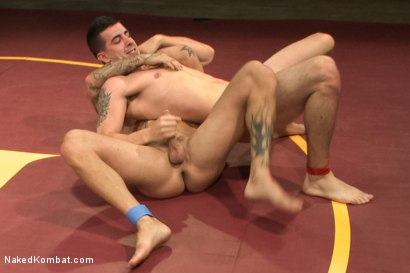 Photo number 6 from First Match of NK's Summer Smackdown 10-Man Kombatant Tournament! shot for Naked Kombat on Kink.com. Featuring Rod Daily and Tyler Alexander in hardcore BDSM & Fetish porn.