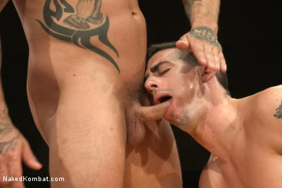 Photo number 12 from First Match of NK's Summer Smackdown 10-Man Kombatant Tournament! shot for Naked Kombat on Kink.com. Featuring Rod Daily and Tyler Alexander in hardcore BDSM & Fetish porn.